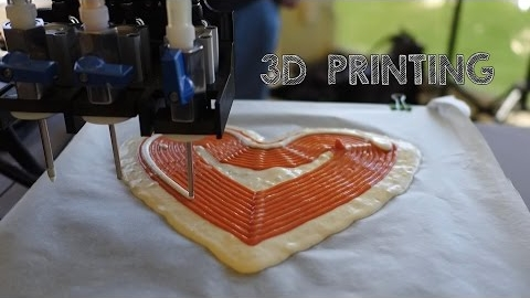 These 3D Printers Make Pizza and Candy. Yum?